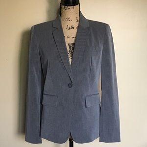 Worthington Women's Gray Pinstripe Blazer Jacket